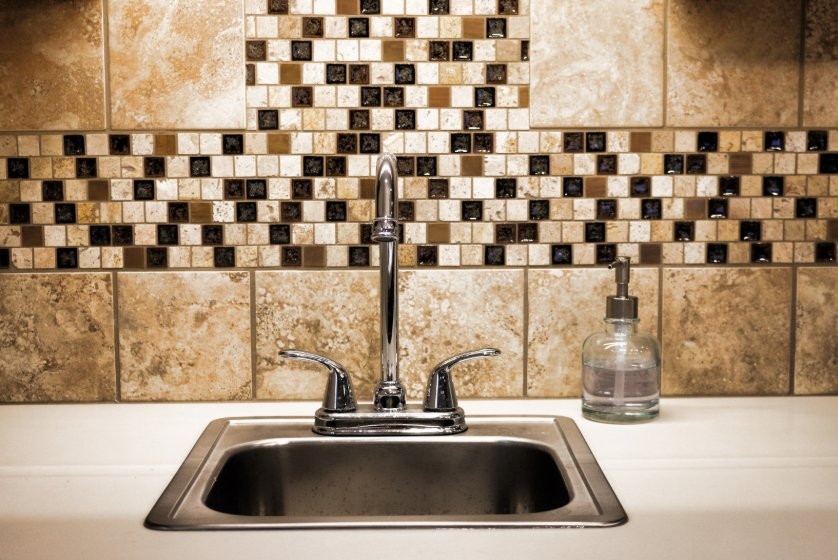 Kitchen Sink with Decorative Tiles